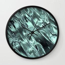 Shiny Sea Glass Reflection, Teal, Ocean Water Waves Wall Clock