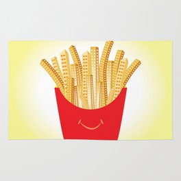 French Fries City Rug