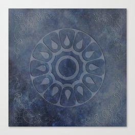 midnight blue stone throw pattern texture Canvas Print