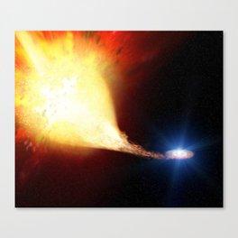 Explosive supernova Canvas Print