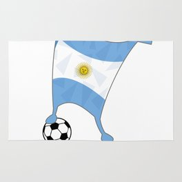 Argentina Flag Football Cup Soccer 2018 Dabbing World Rug