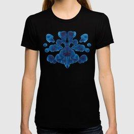 Inkblot Bunny Blue Inkblot Rorschach Test T-shirt