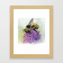 Watercolor Bee 7 Framed Art Print