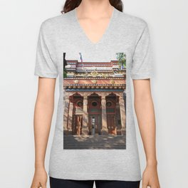 Main Entrance. Buddhist traditional sangha of Russia. Unisex V-Neck
