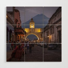 Santa Catalina Arch at Night Wood Wall Art
