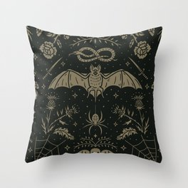 Cemetery Nights Throw Pillow