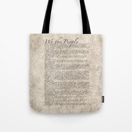United States Bill of Rights (US Constitution) Tote Bag