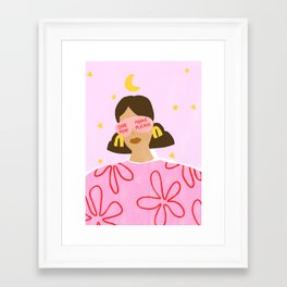 One More Minute Please Framed Art Print