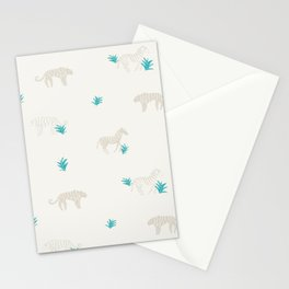 Tigers and Zebras Stationery Cards