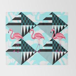 flamingo all days Throw Blanket