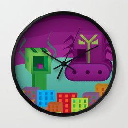 Monster Rampage (no title) Wall Clock