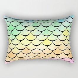 Ombre Rainbow mermaid Rectangular Pillow