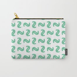 Green Shapes Carry-All Pouch
