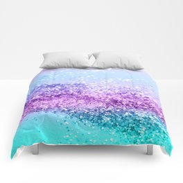 Unicorn Girls Glitter #14 #shiny #decor #art #society6 Comforters