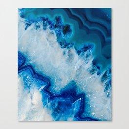 Royally Blue Agate Canvas Print