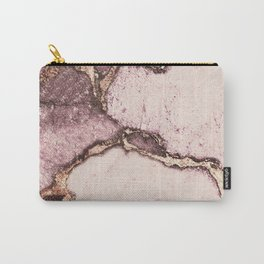 GEMSTONE AND GOLD BLUSH ROSE Carry-All Pouch