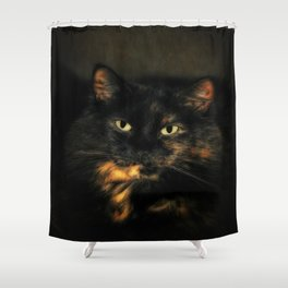 Tortoiseshell Cat Shower Curtain