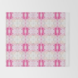 Minty Rose (Abstract Painting) Throw Blanket