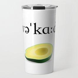 Avocado Phonetic Travel Mug