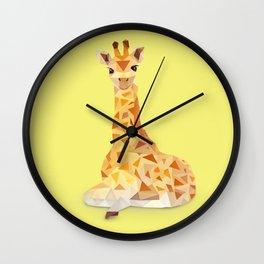 Giraffe. Wall Clock