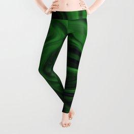 Black and green marble pattern Leggings