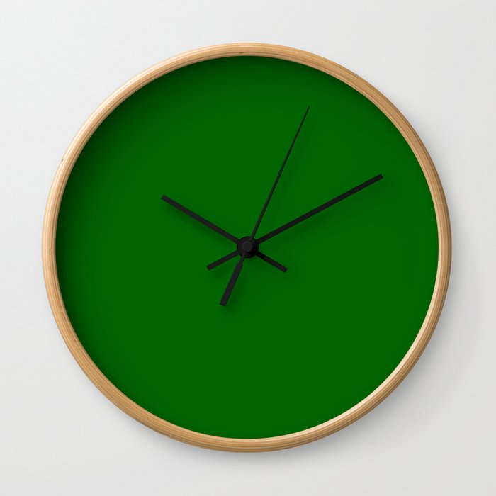 color dark green Wall Clock