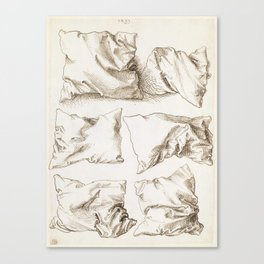 Six Studies of Pillows by Albrecht Durer, 1493 Canvas Print