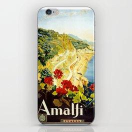 Amalfi Coast, Italy Vintage Travel Poster iPhone Skin