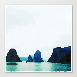 Twilight in Halong Bay Canvas Print