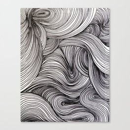 Black Swirlies Canvas Print