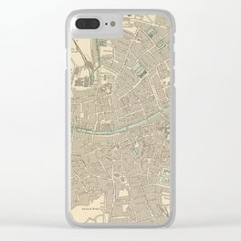 Vintage Map of Dublin Ireland (1901) Clear iPhone Case