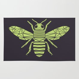 The Bee is not envious - Geometric insect design Rug