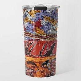 Uluru (Ayers Rock) Authentic Aboriginal Art Travel Mug
