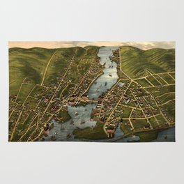 Map Of Mystic 1879 Rug