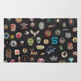 Vintage patches NOIR Rug
