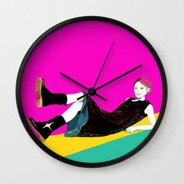 sae-pink Wall Clock