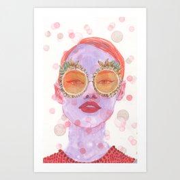Pink & Orange Art Print