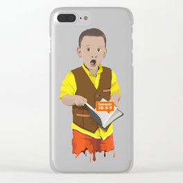 Thought Provoking Kid Clear iPhone Case