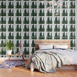 vertical watercolor cactus Wallpaper