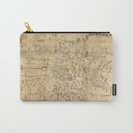 Map of Anxi and Qinghai Outside of Jiayuguan, China (1864) Carry-All Pouch