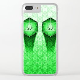 D20 All I Do Is Crit! Natural 20's Pervert Version Clear iPhone Case