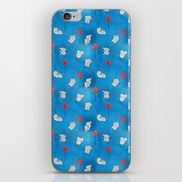 Floaty Eles (with balloons) iPhone Skin