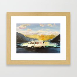 Don't Trip Framed Art Print