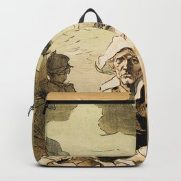 1890 Drowned fishermen charity ball by Chéret Backpack