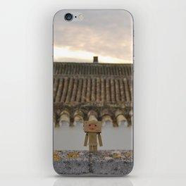 Danbo on rooftops  iPhone Skin