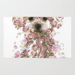 Vintage doggy Bichon frise.DISCOVER Rug