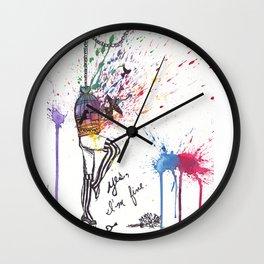 Yes, I'm Fine. - Watercolour Wall Clock