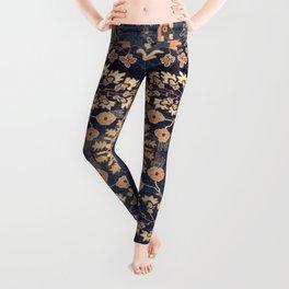 Sarouk Persian Floral Rug Print Leggings