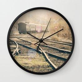 Railroad Crossing Wall Clock