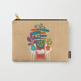 Indoor garden with cat Carry-All Pouch